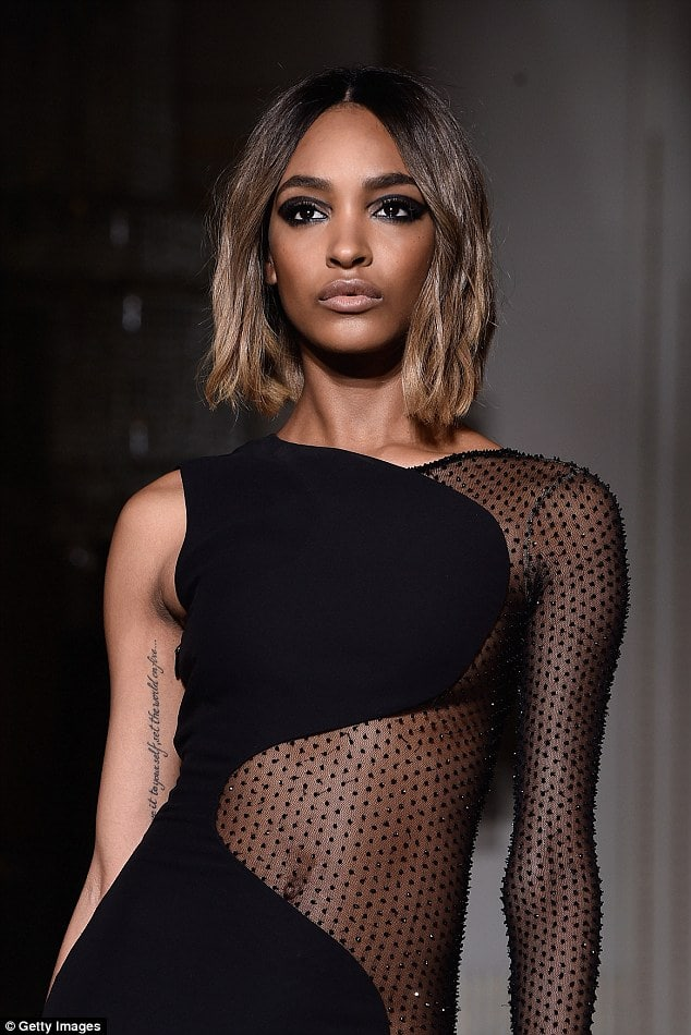 Jourdan Dunn Hot in Black Dress