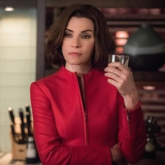 Julianna Margulies Drinking Wine