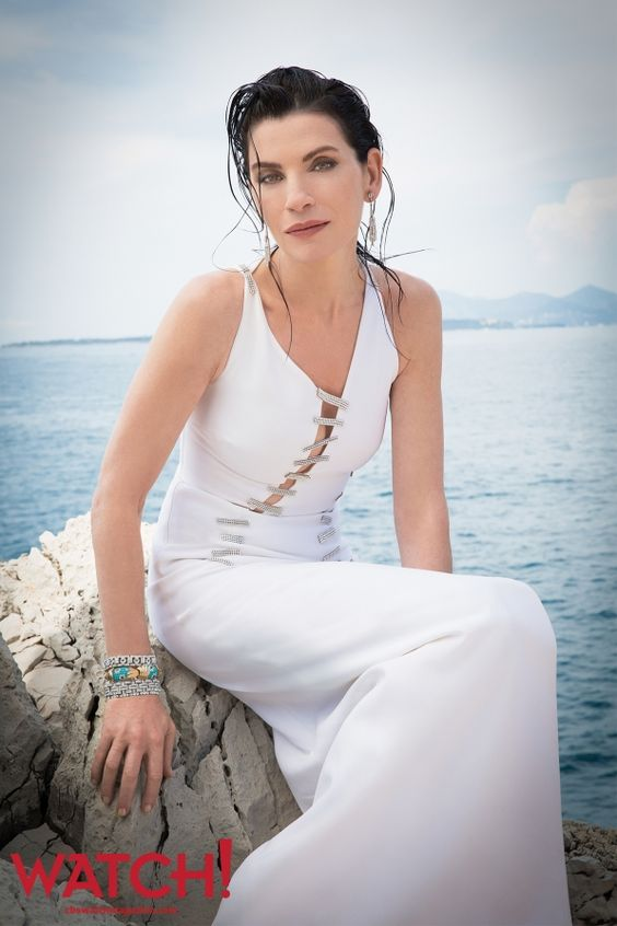 Julianna Margulies Hot in White Dress