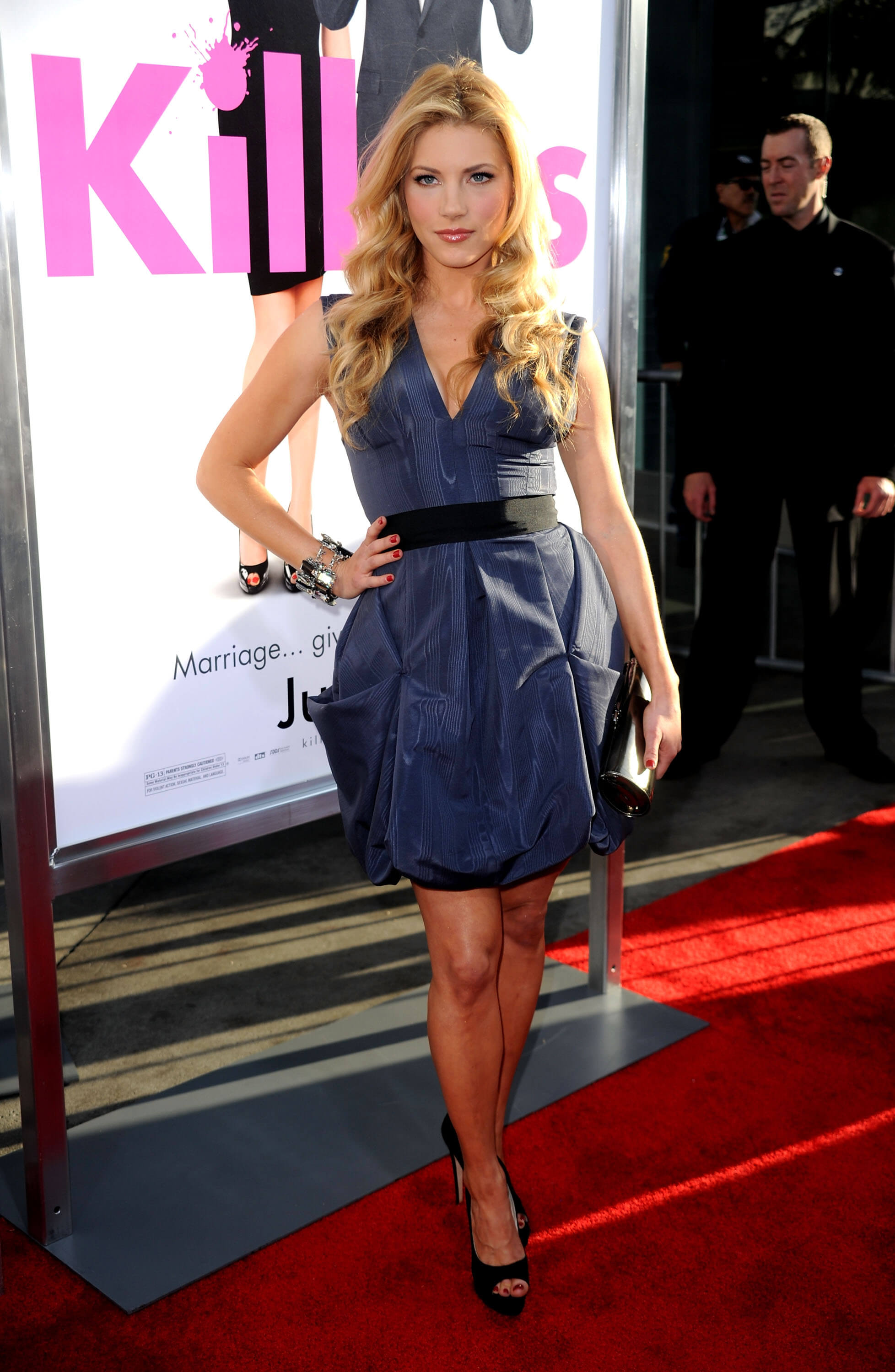Katheryn Winnick blue sexy dress