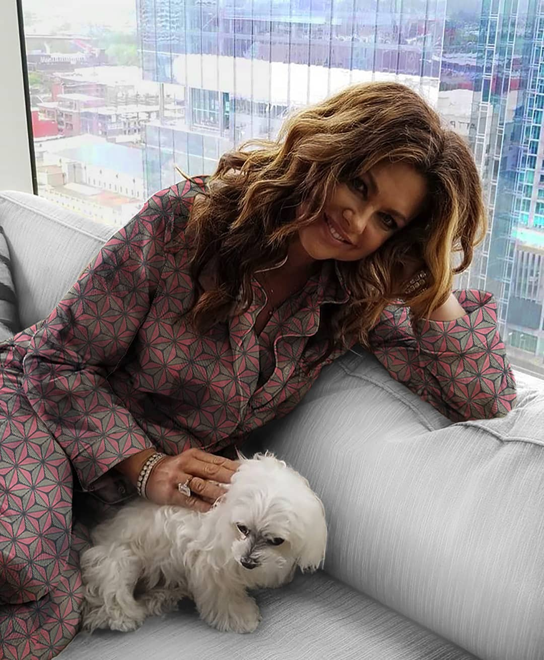 Kathy Ireland with Puppy