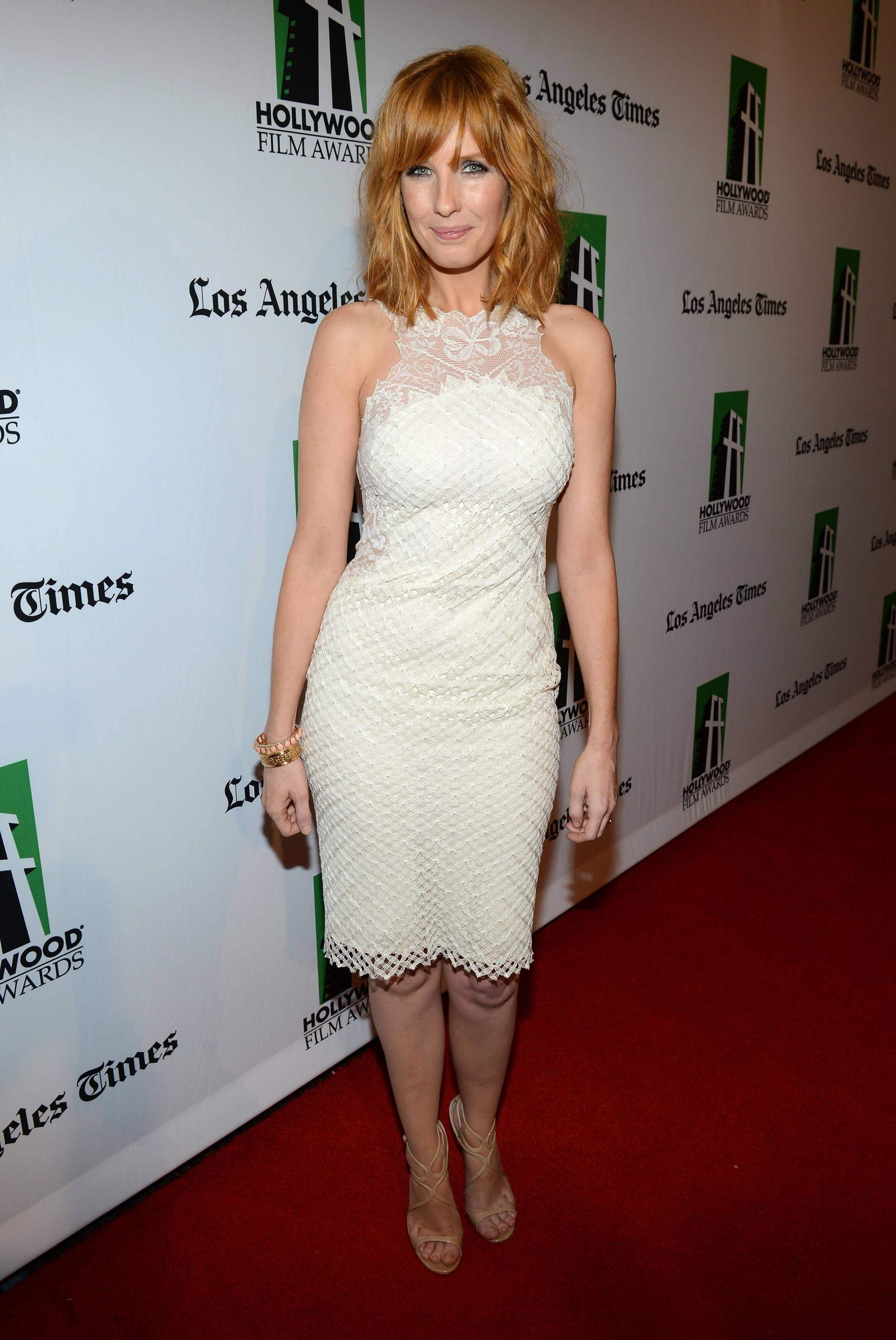 Kelly Reilly hot white dress