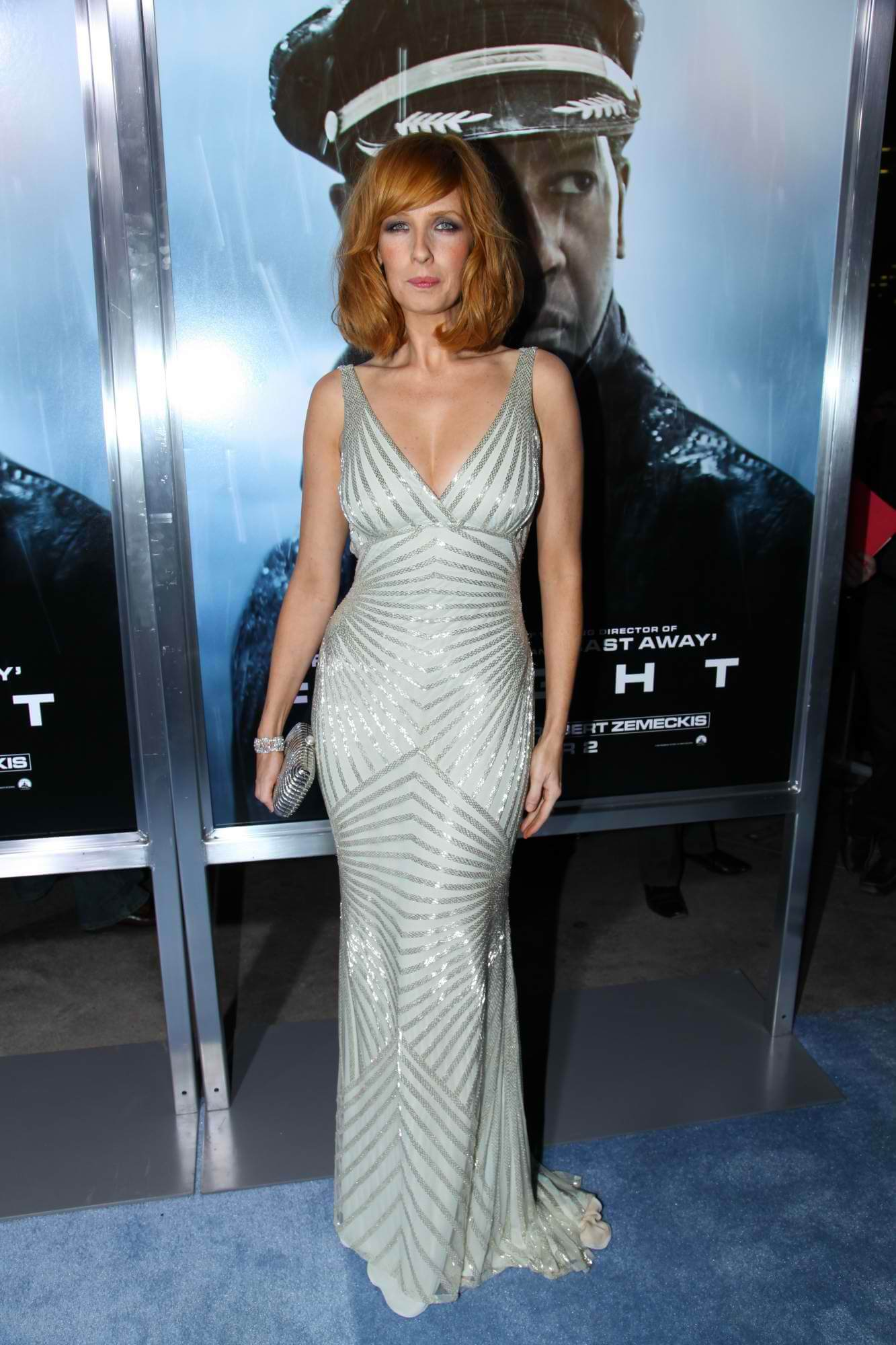 Kelly Reilly sexy long dress