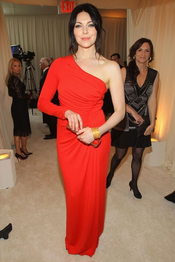 Laura Prepon Hot in Red Dress