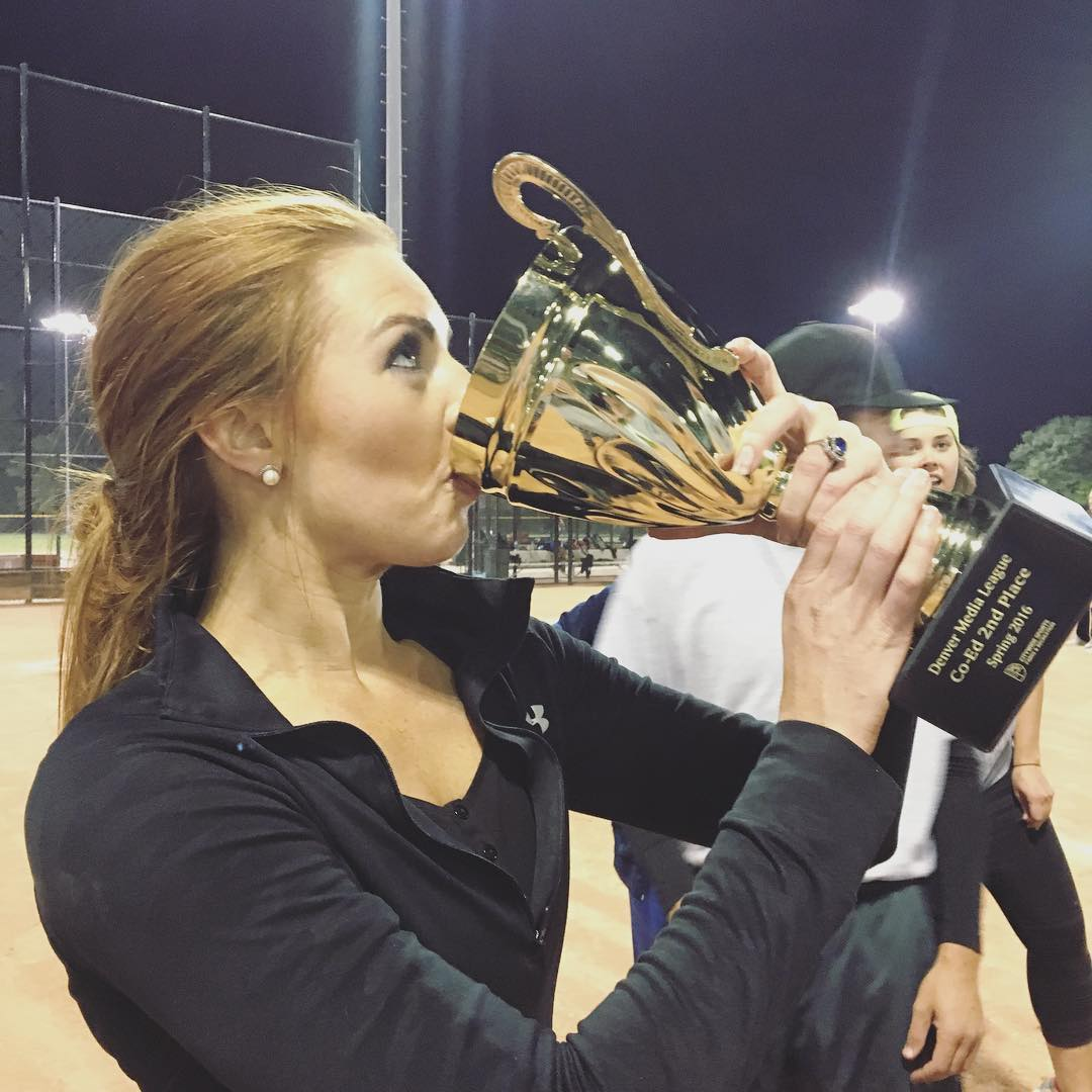 Lauren Gardner with Trophy