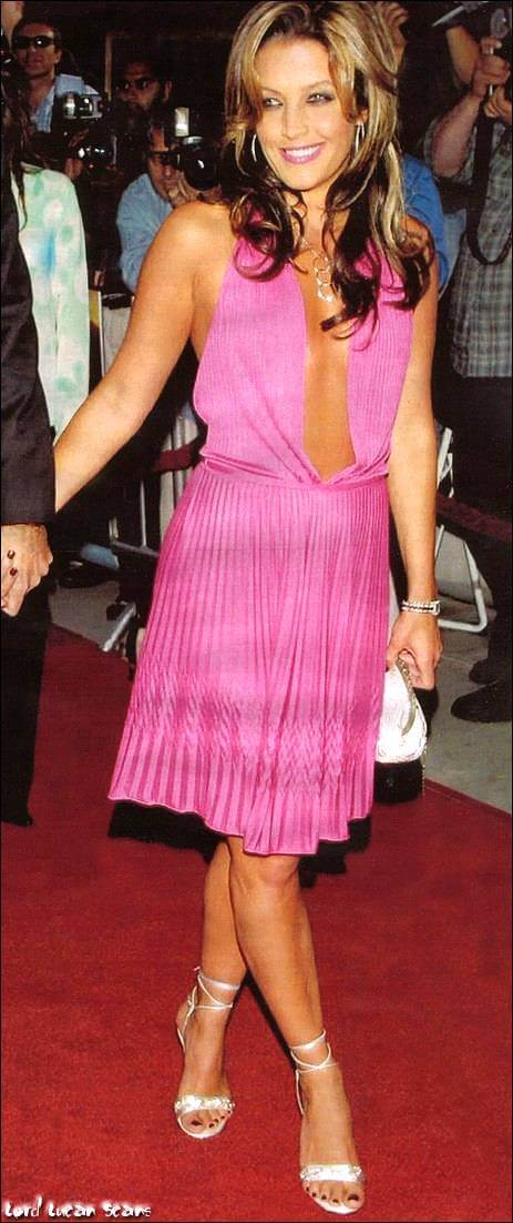 Lisa Marie Presley awesome pink dress