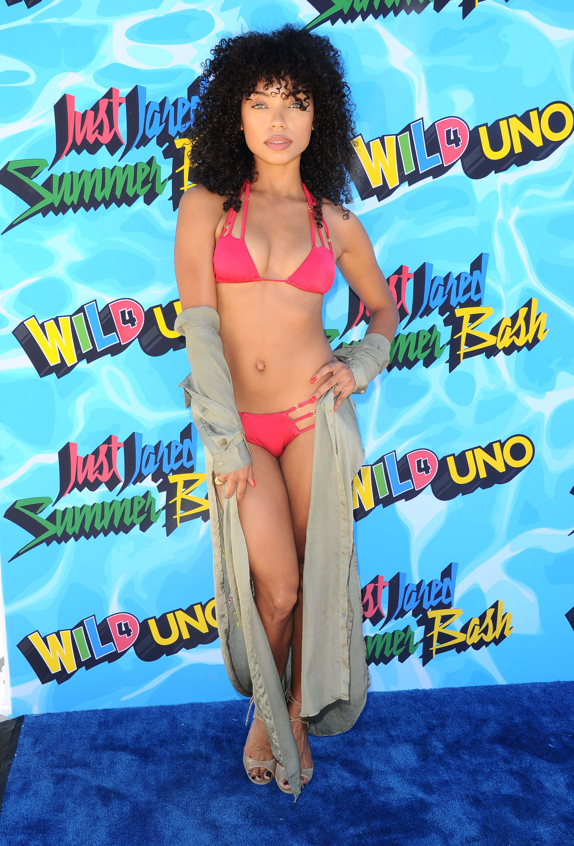 Logan-Browning- red bikini