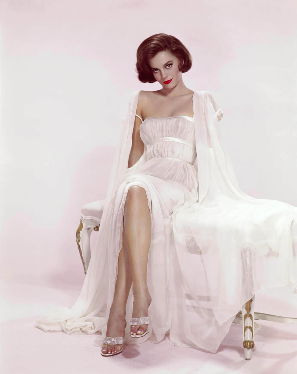 Natalie-Wood white awesome dress