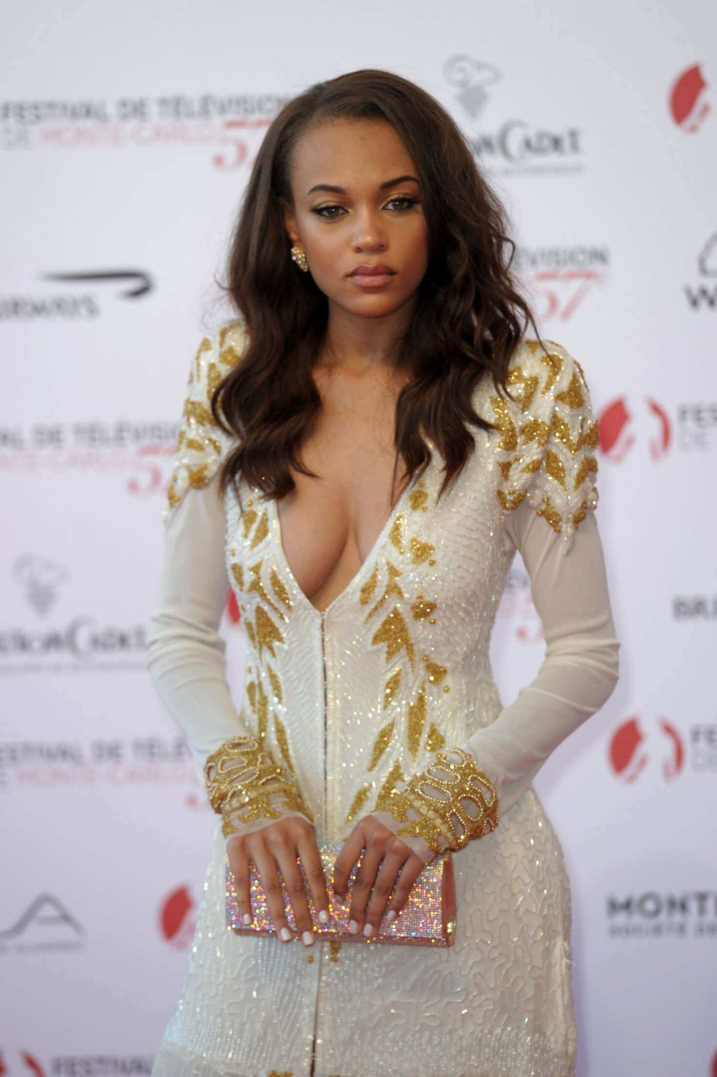 Reign Edwards hot white dress