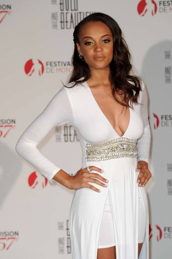 Reign Edwards sexy white dress