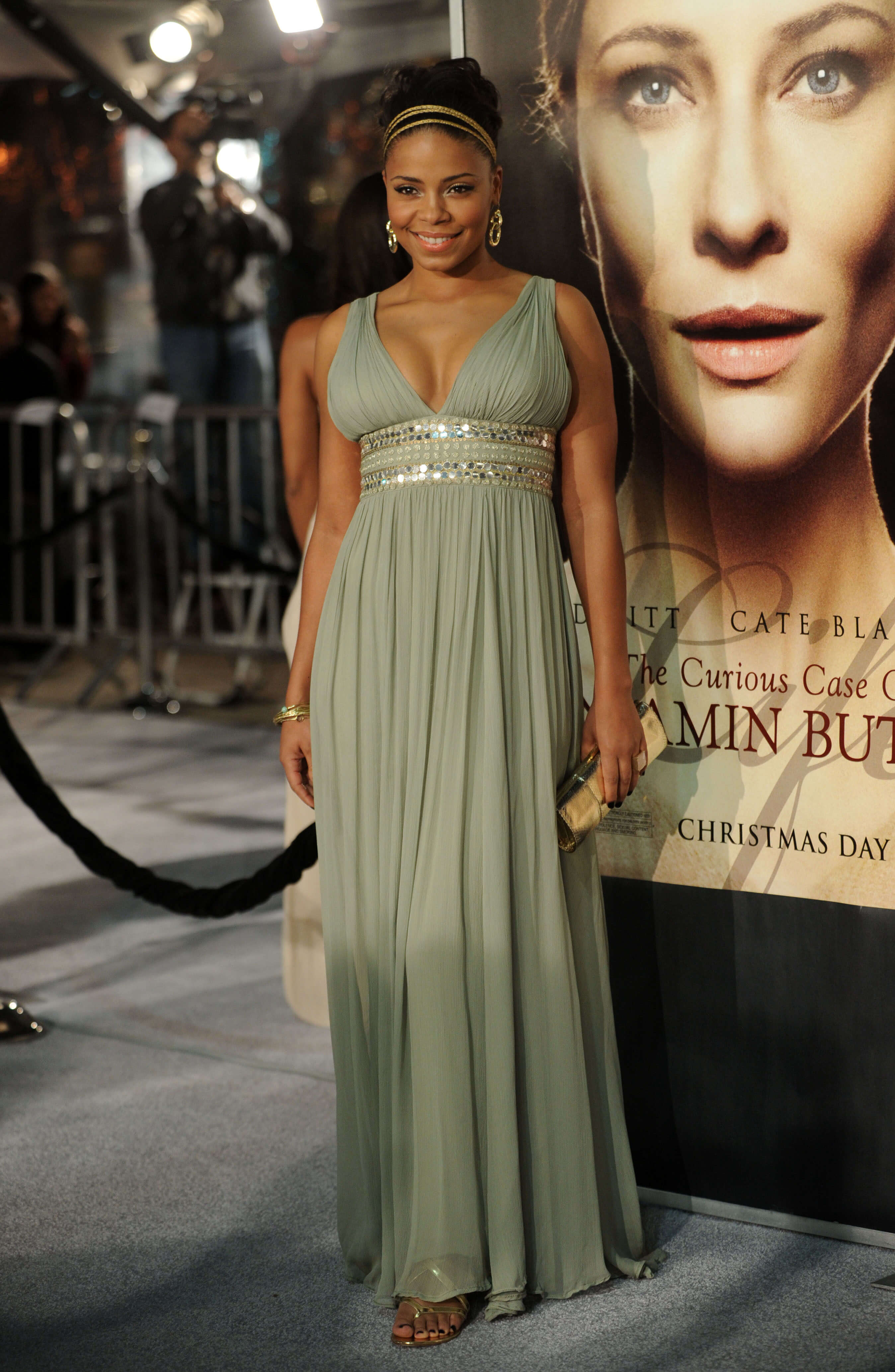 Sanaa Lathan long dress photo