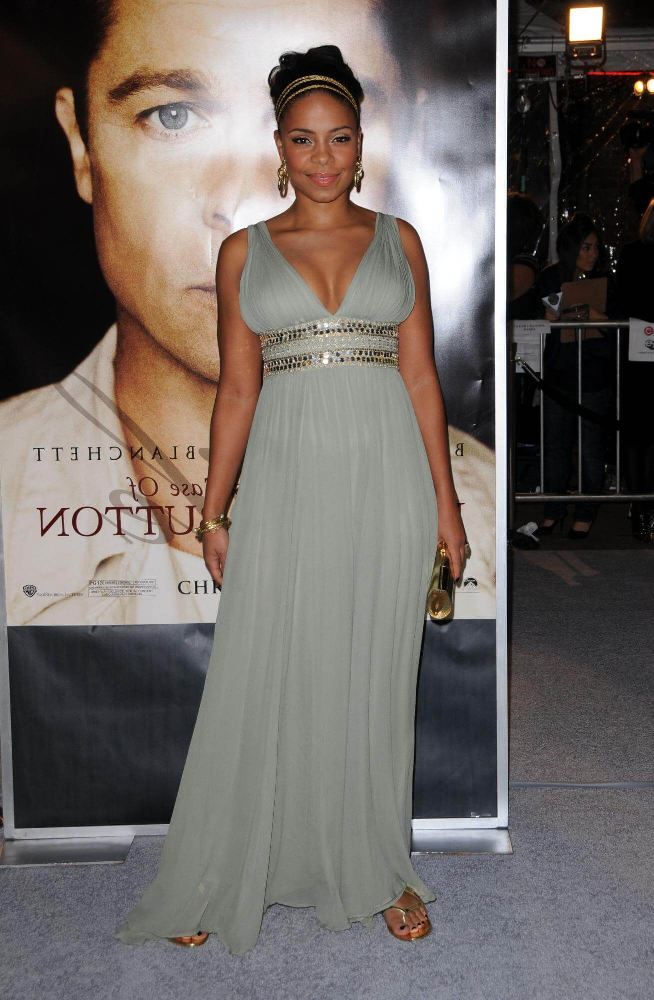 Sanaa Lathan long dress pic