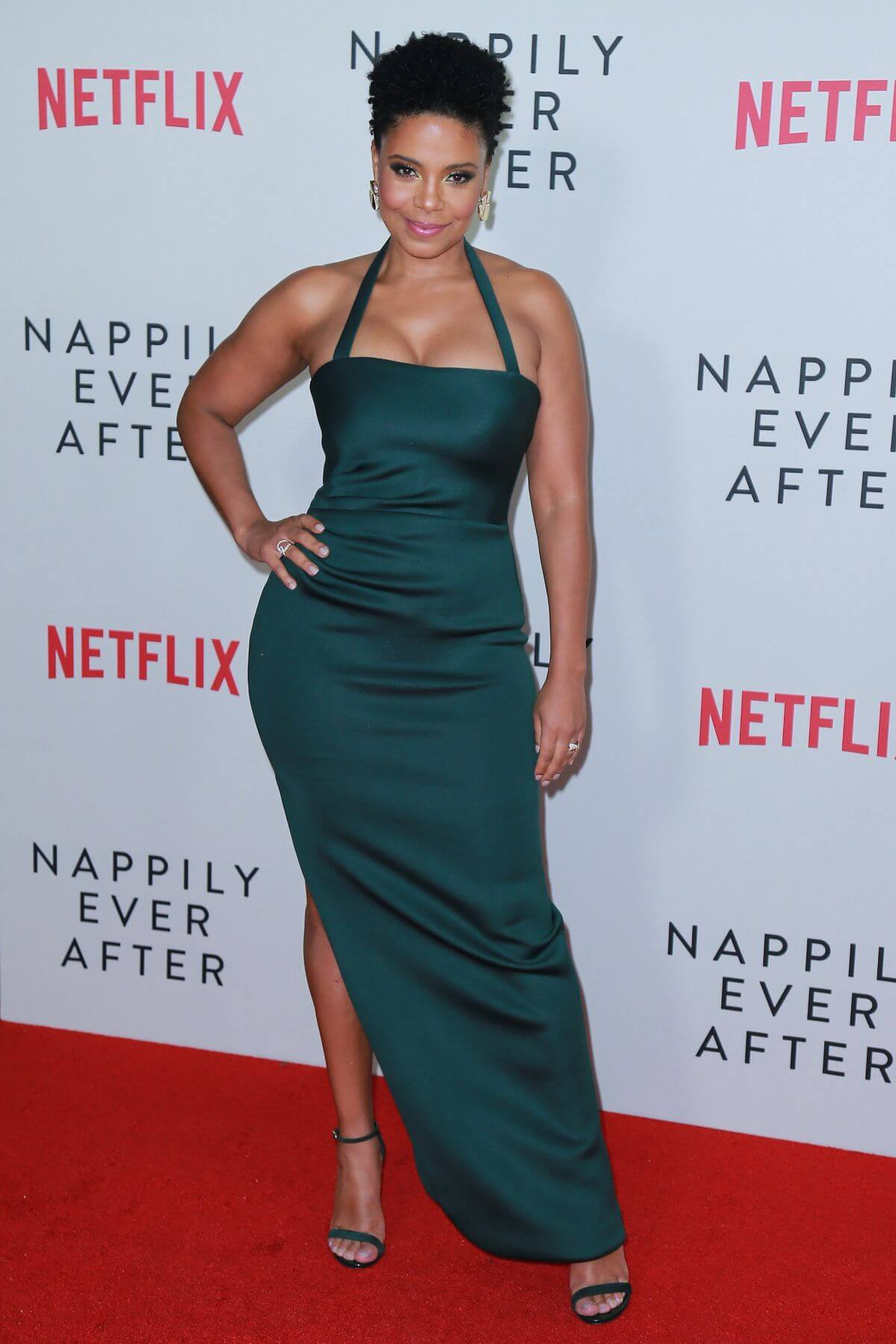 Sanaa Lathan sexy long dress