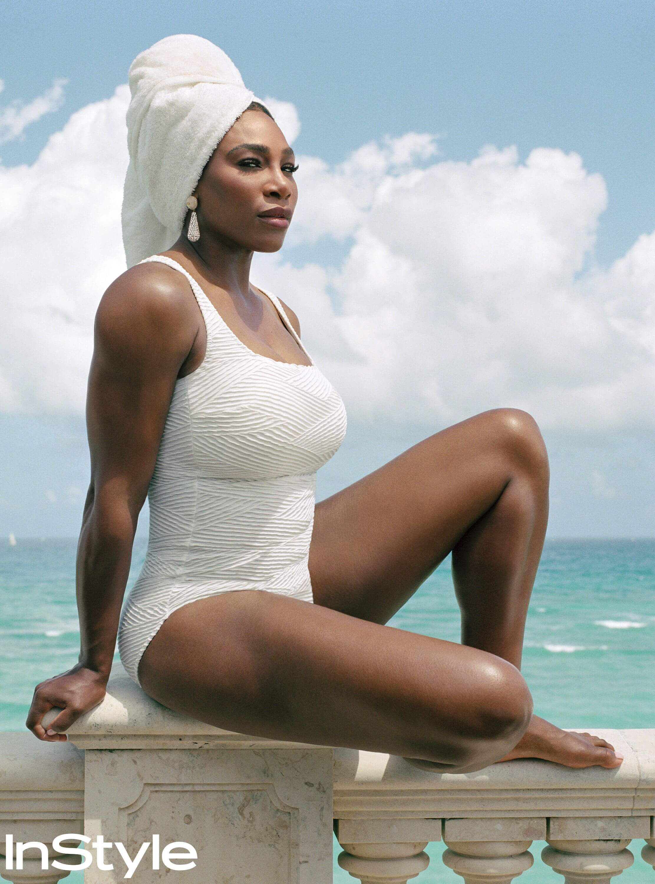 Serena Williams hto thigh