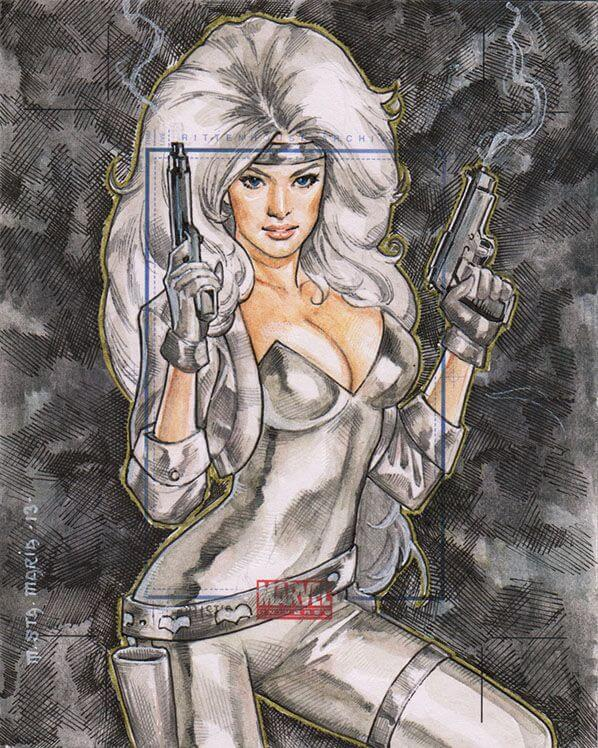 Silver Sable cleavage photo