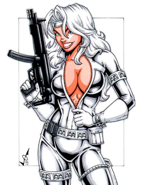 Silver Sable hot cleavage photo