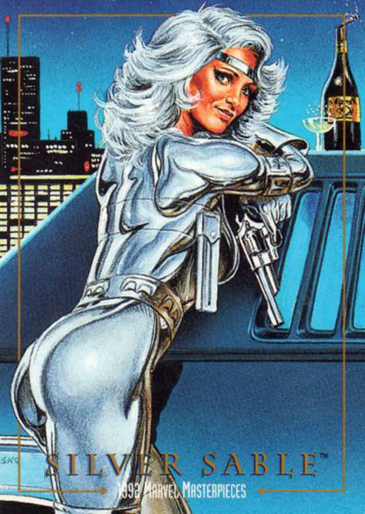 Silver Sable sexy butt pic