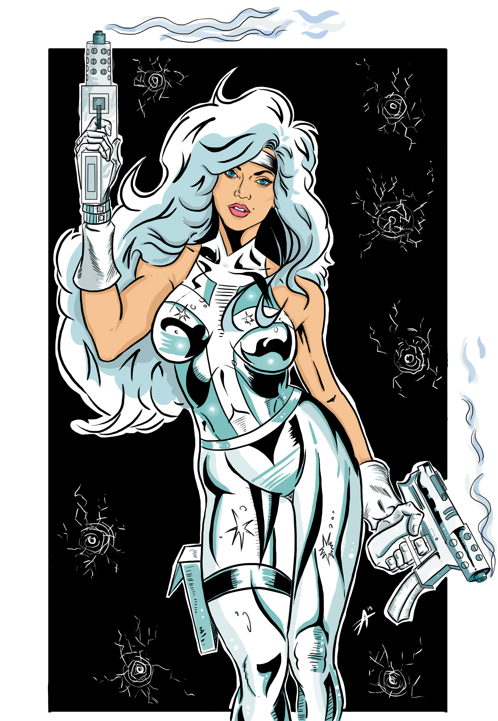 Silver Sable sexy pic