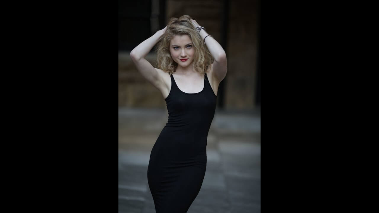 Skyler Samuels awesome black dress