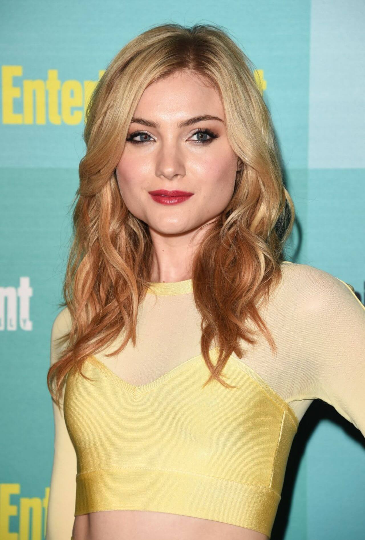 Skyler Samuels yellow sexy dress
