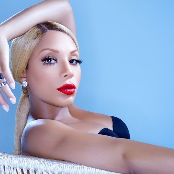 Tamar Braxton Red Lips