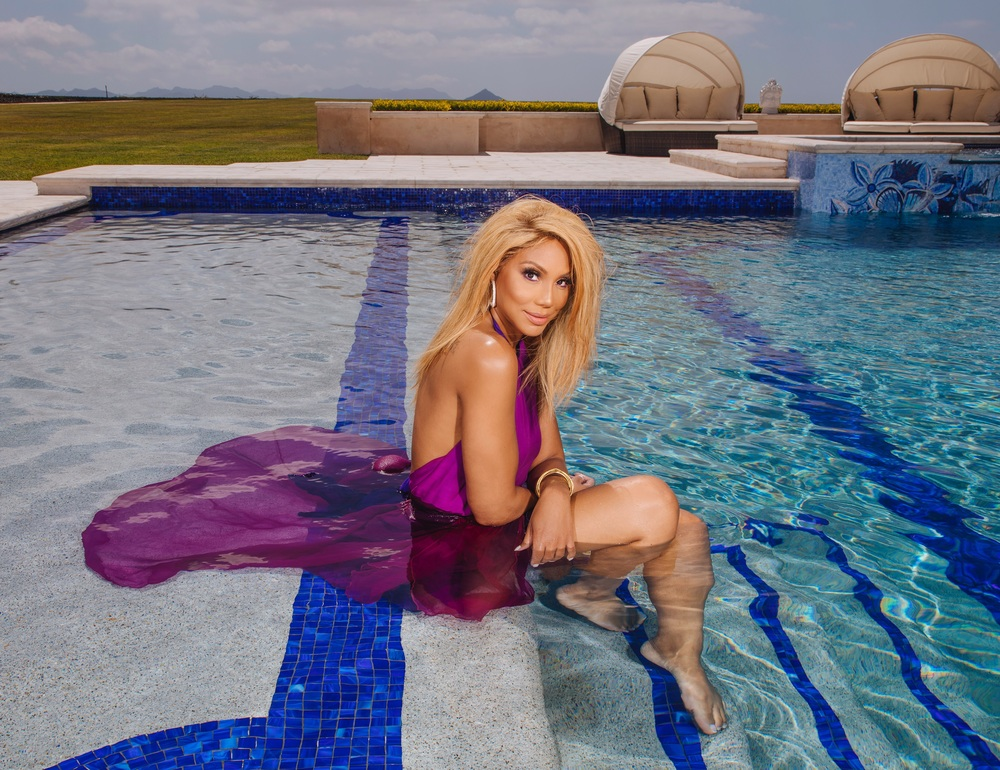 Tamar Braxton on Swimming Pool