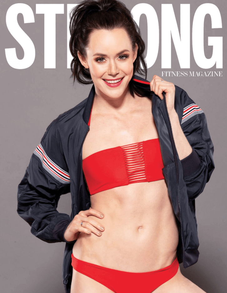 Tessa Virtue sexy red bikini