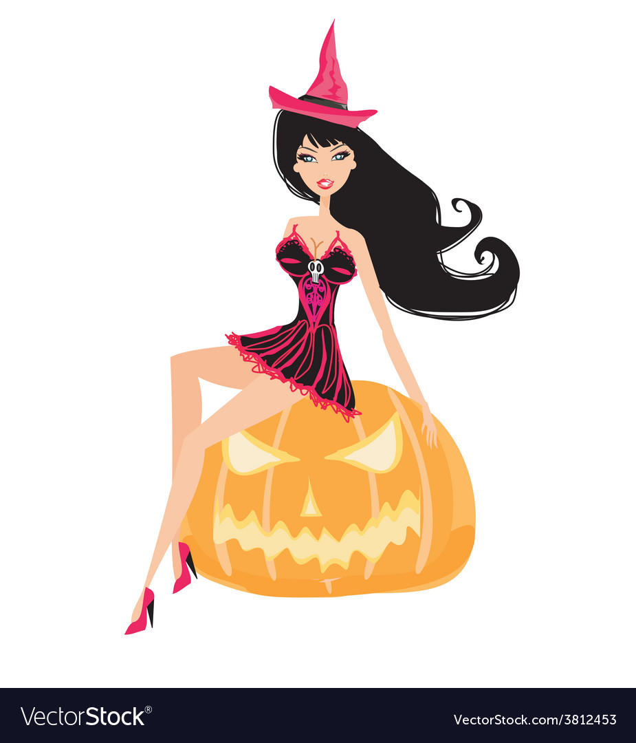 Witch sexy lady pic
