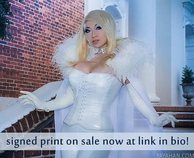 Yaya Han white sexy dress