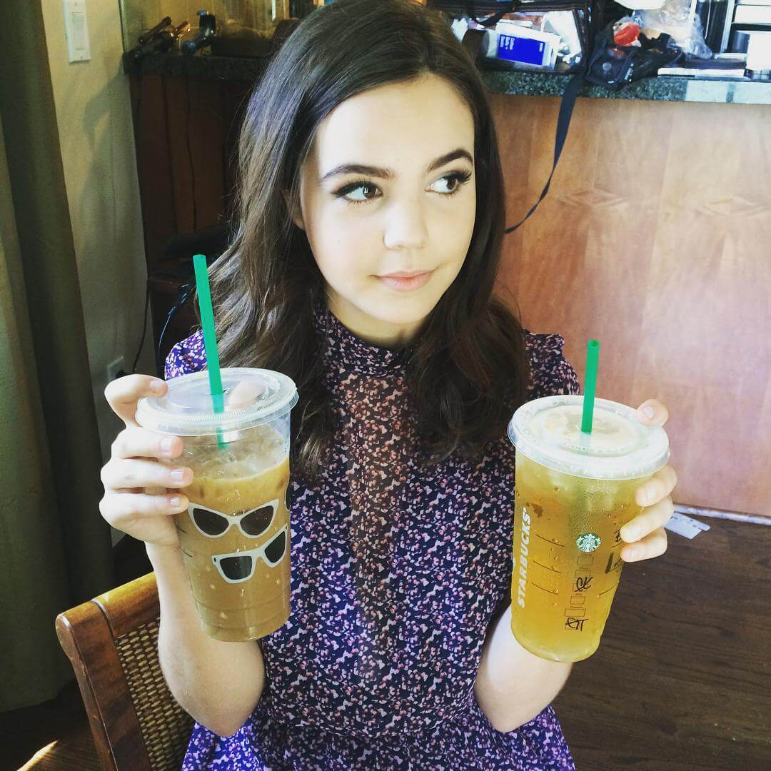 bailee madison with drink
