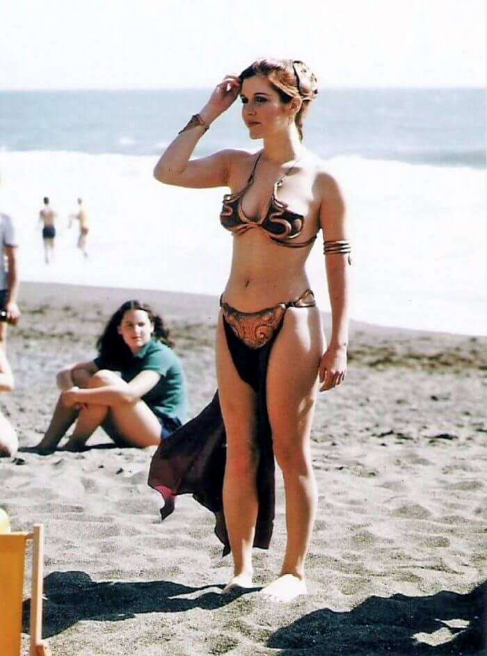 carrie fisher beach