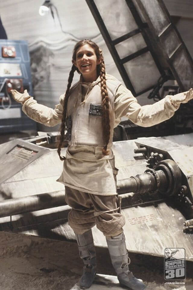 carrie fisher hair style