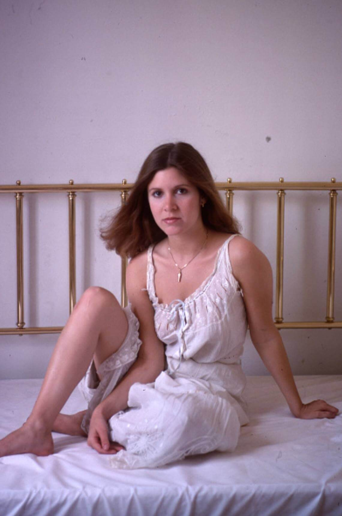 carrie fisher hot feet