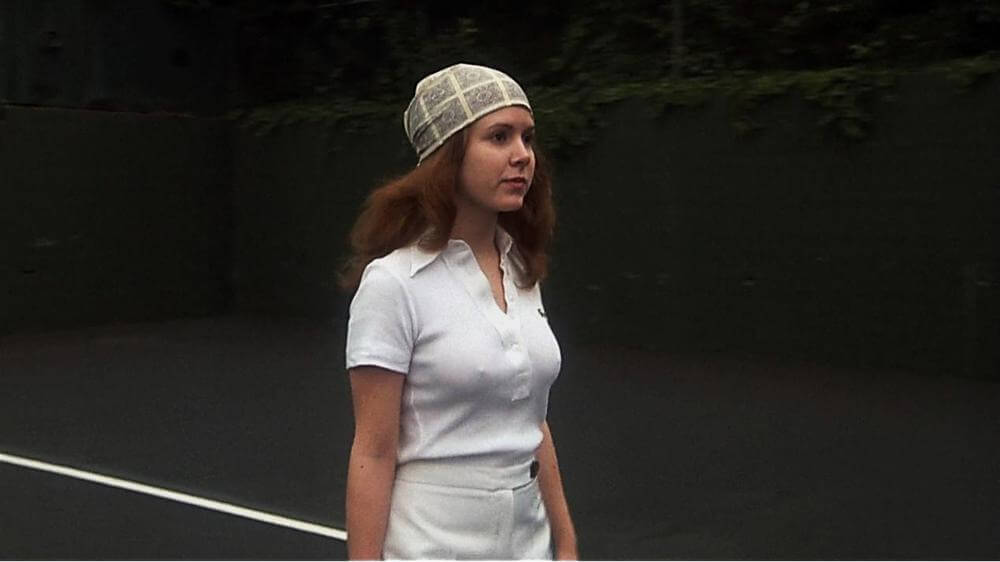 carrie fisher playing tennis