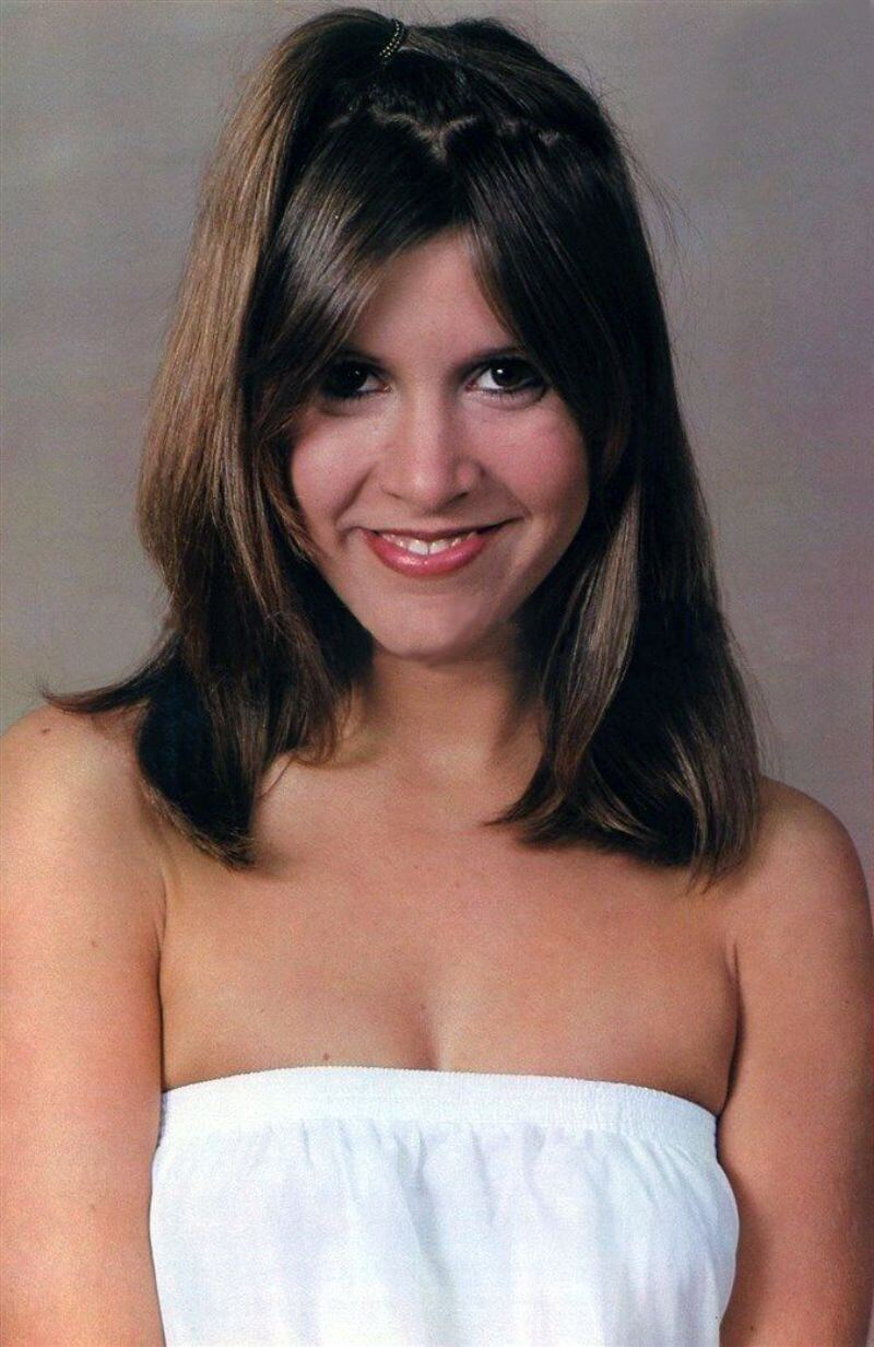 carrie fisher sexy smile