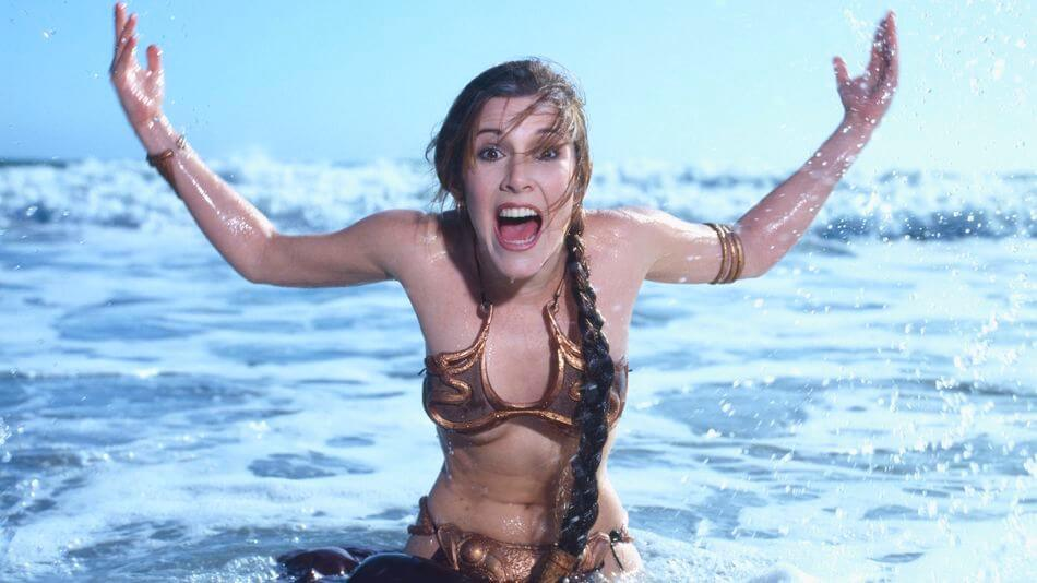 carrie fisher shouting
