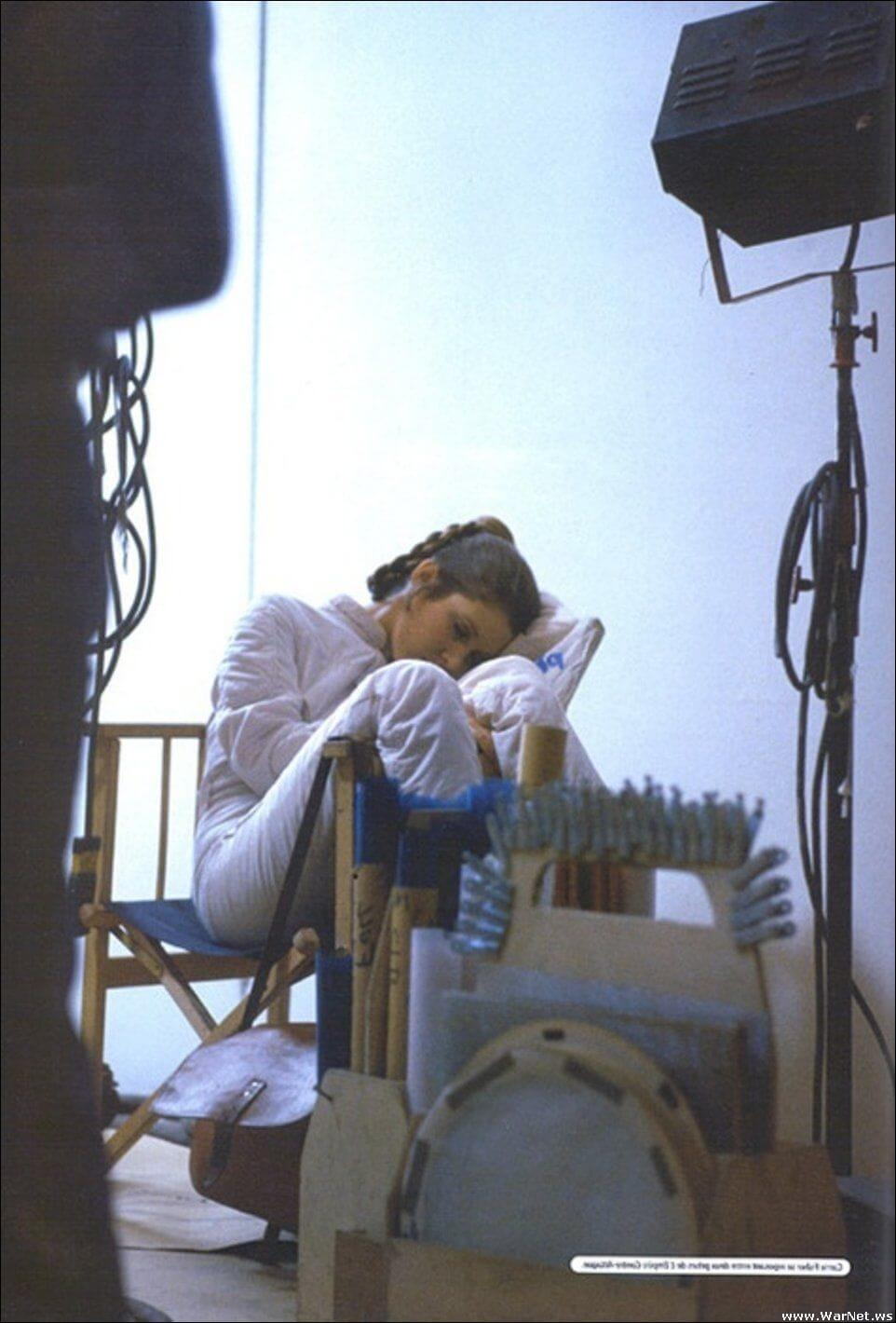 carrie fisher sleeping