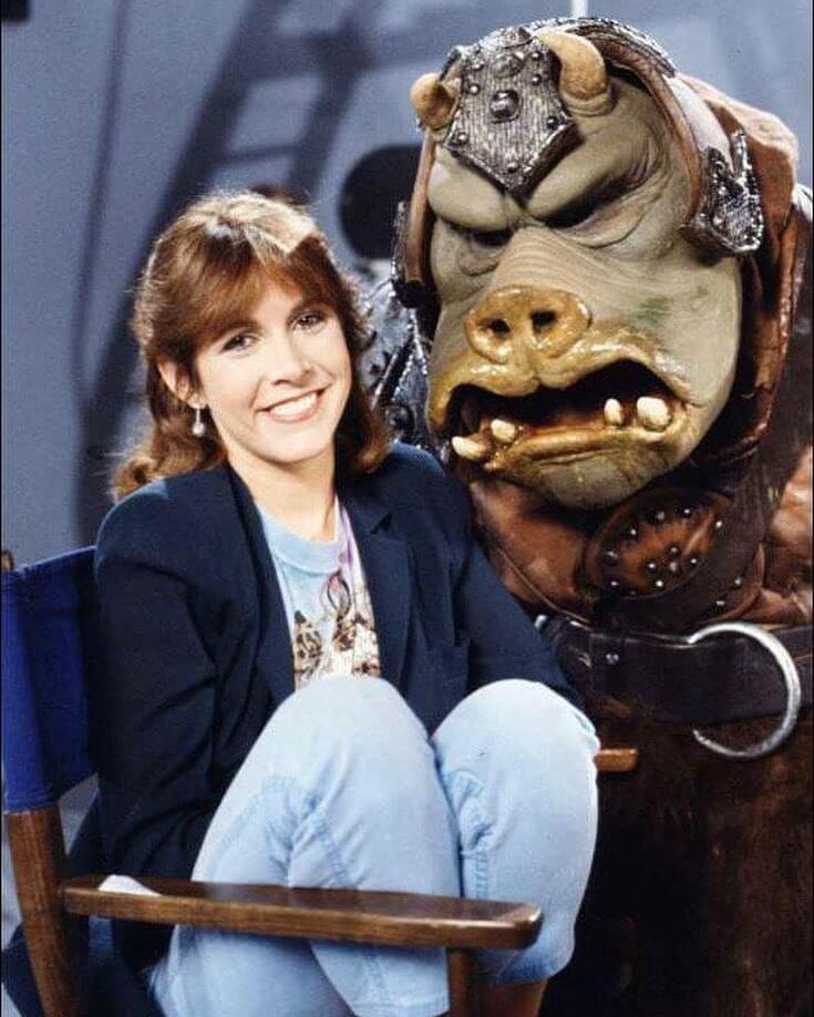 carrie fisher smile face