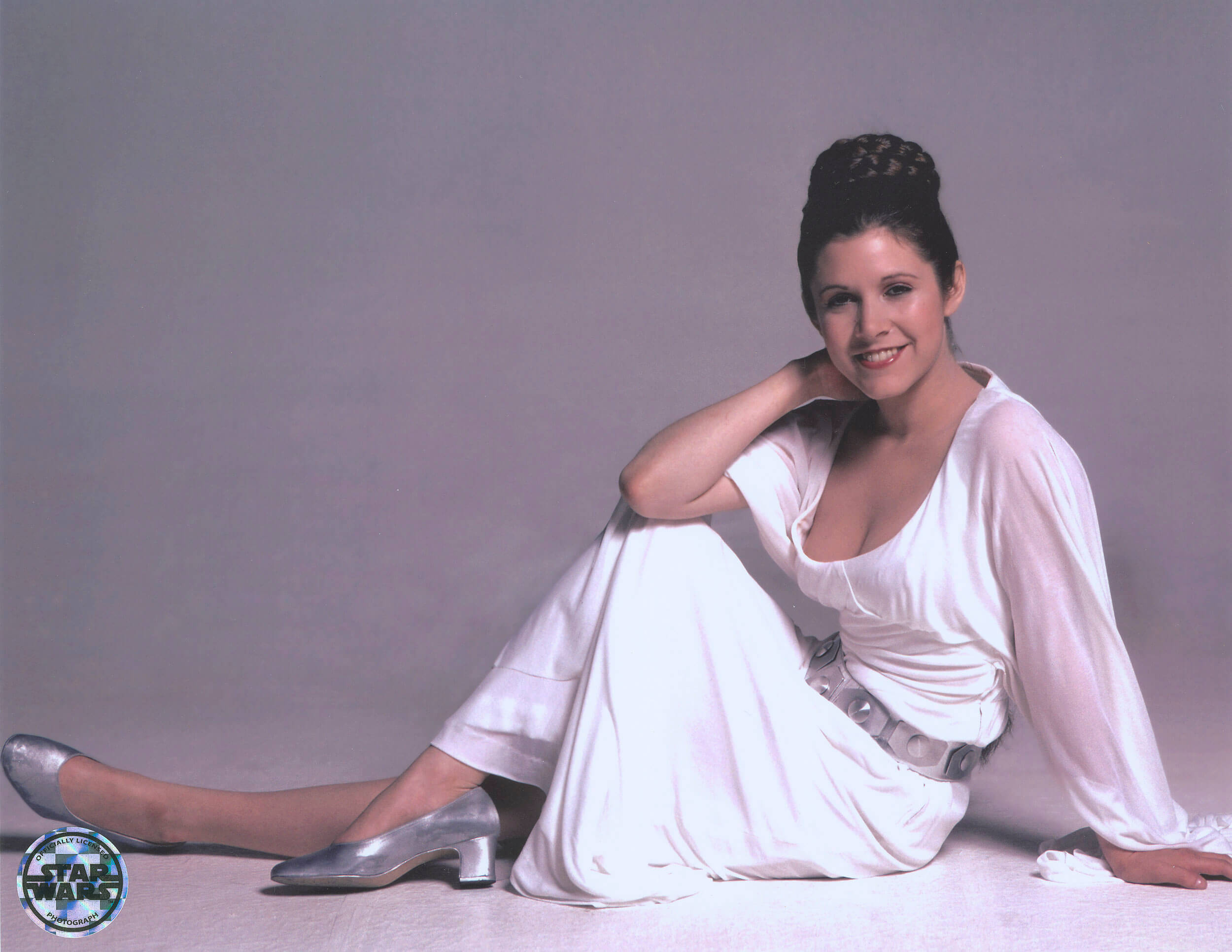 carrie fisher smile