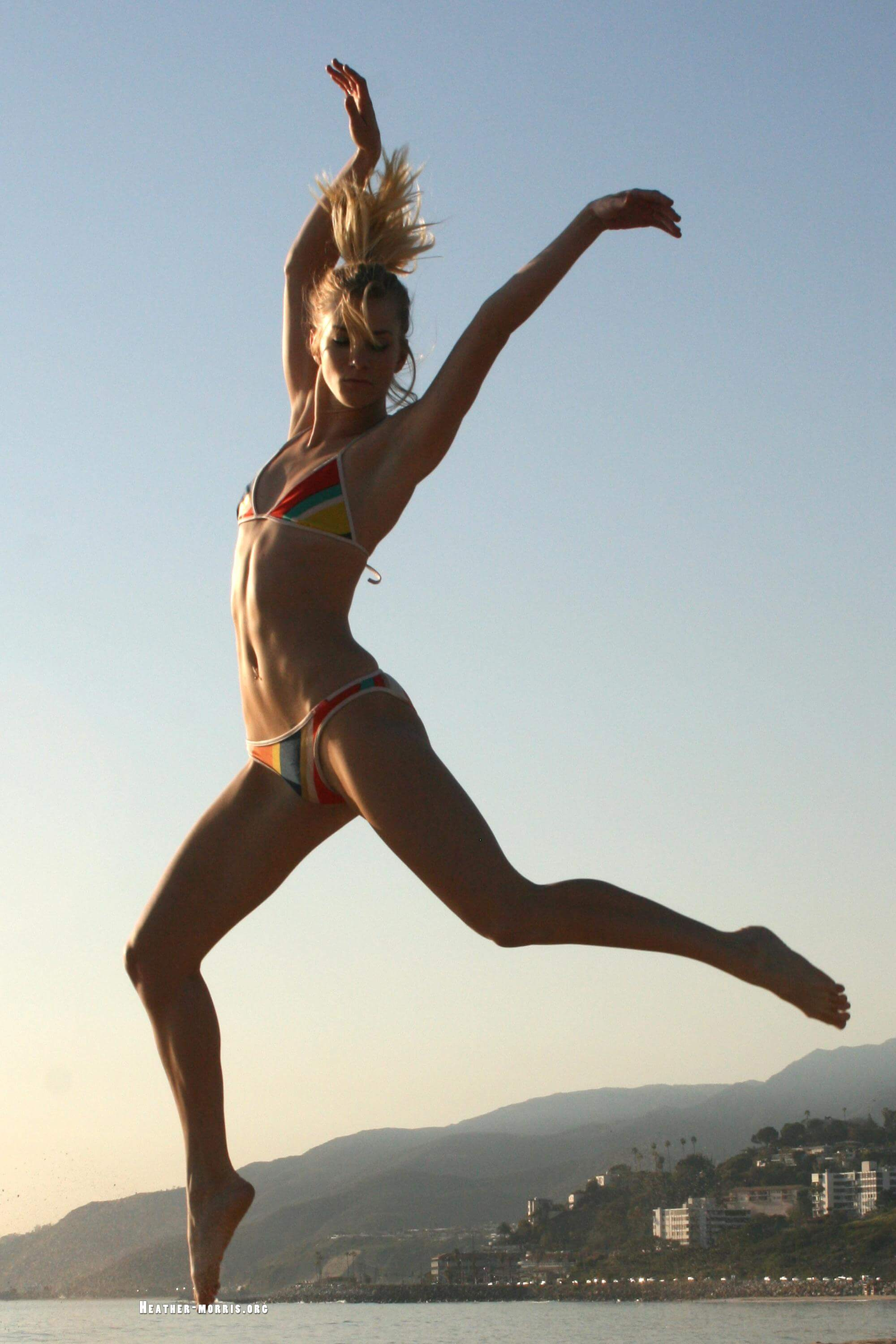 heather morris jumping