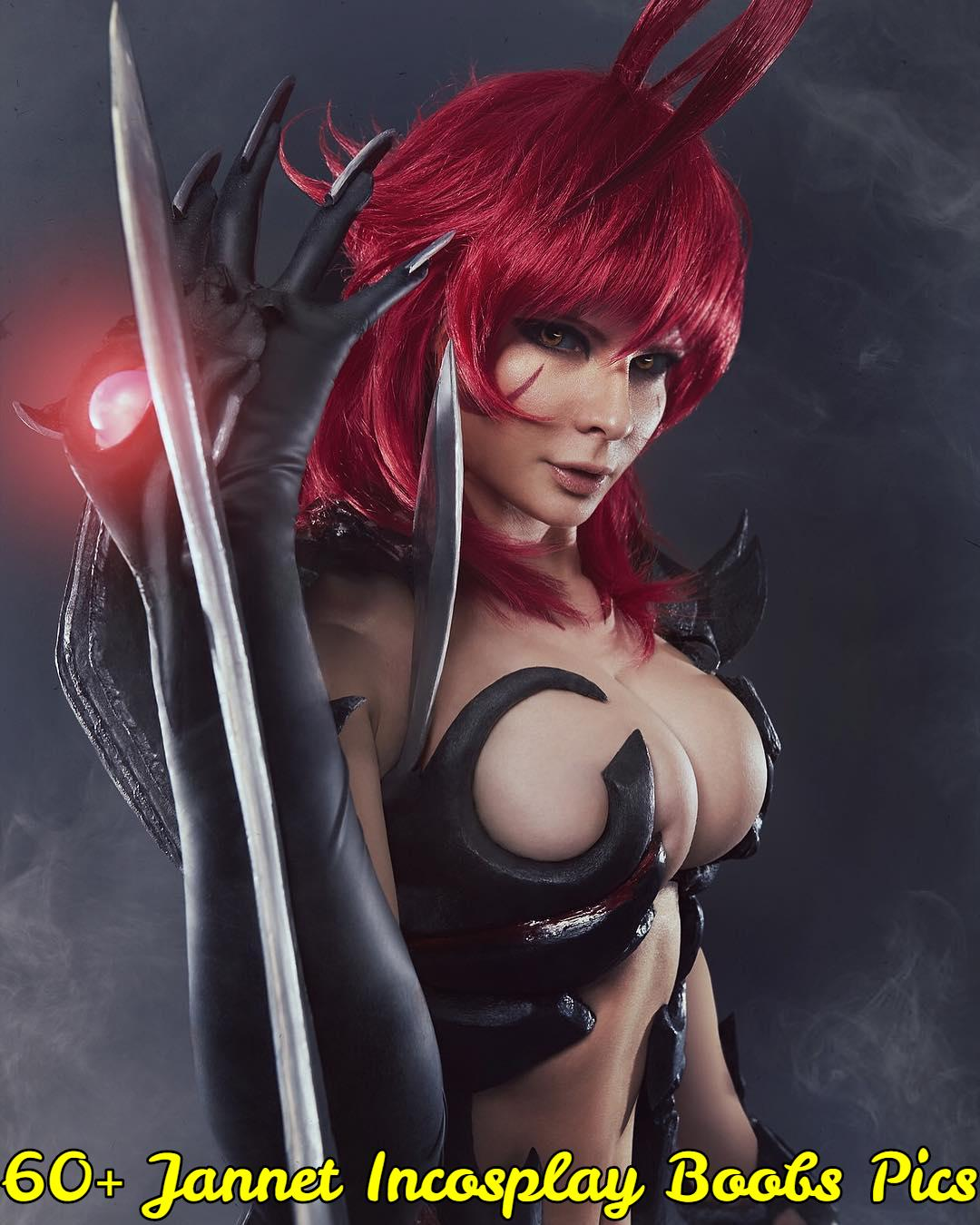 jannet incosplay boobs pics