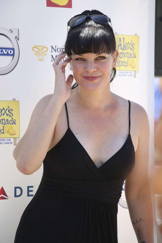 pauley perrette black dress