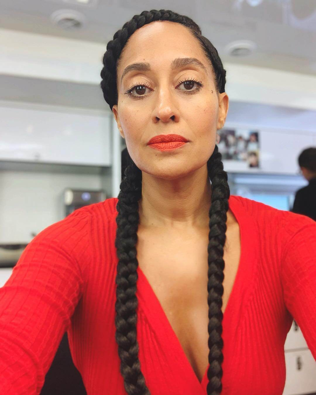 tracee ellis ross red dress