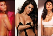 49 Hottest Kourtney Kardashian Lingerie Pictures Expose Her Sexy Hour-glass Figure