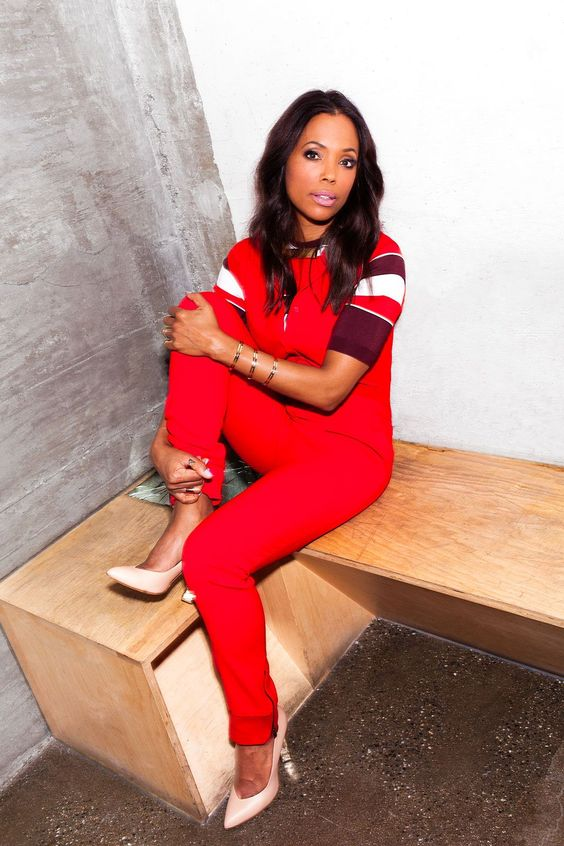 Aisha Tyler Hot in Red