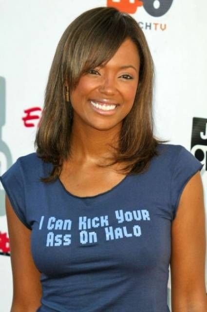 Aisha Tyler Hot in T-Shirt