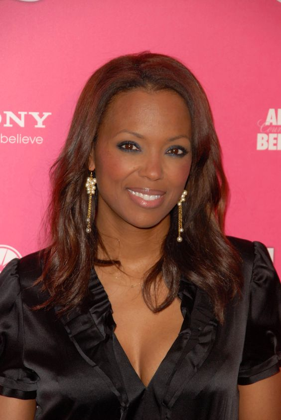 Aisha Tyler hot in Black Dress