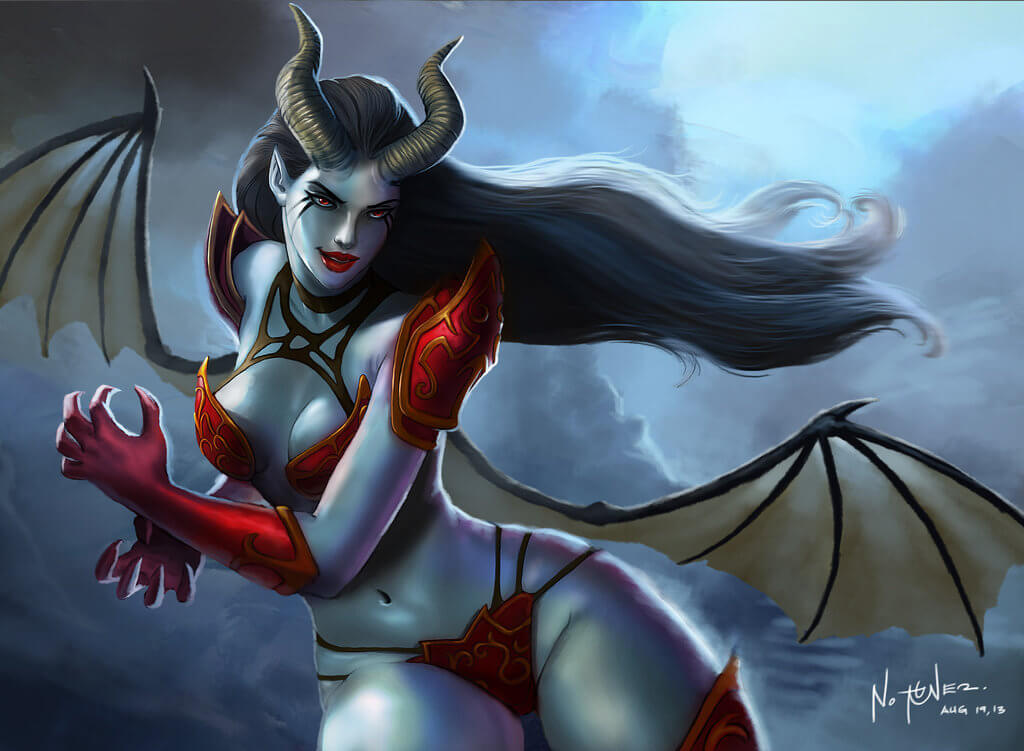 Akasha Queen of Pain cleavages pic