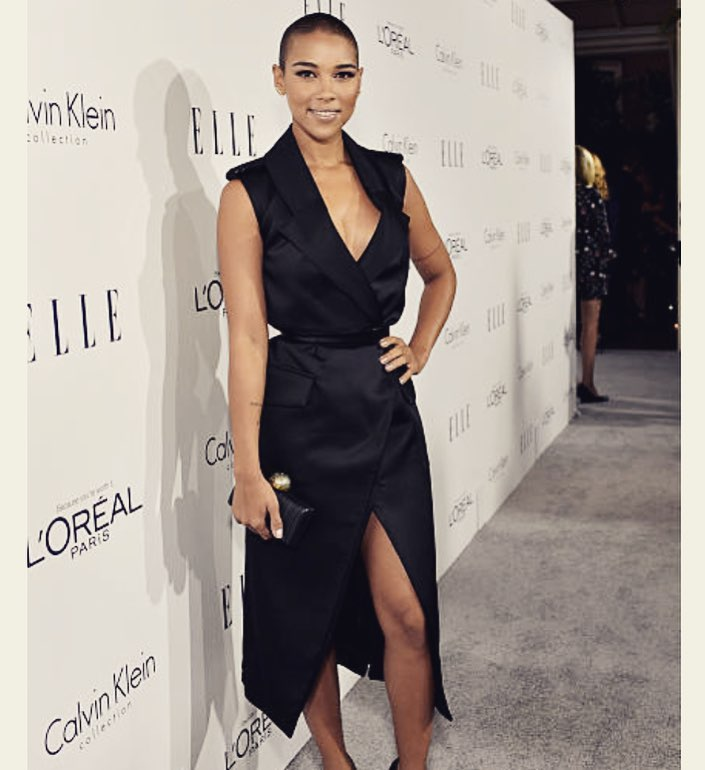 Alexandra Shipp Hot in Black Dress Pics