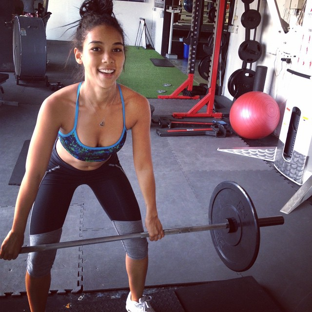 Alexandra Shipp on Workout